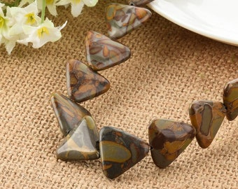 Bamboo Leaf Agate Triangle Beads 22mm diy Jewelry