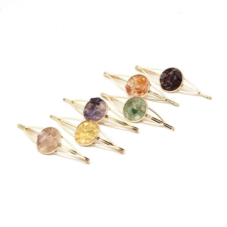 Womens Candy Hairpin Snap Hair Clip Pin Hair Accessories Slide Crystal Barrette