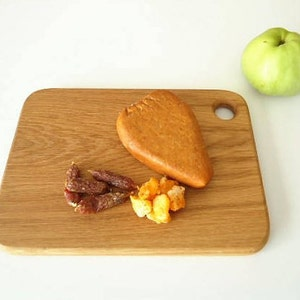 Natural Oak  Cutting Board  Serving Plate Tray  Snacks Starter Plate Tray  Size Approx 11.8 in x 8.5 in or 30 cm x 21.5 cm  Gift Idea