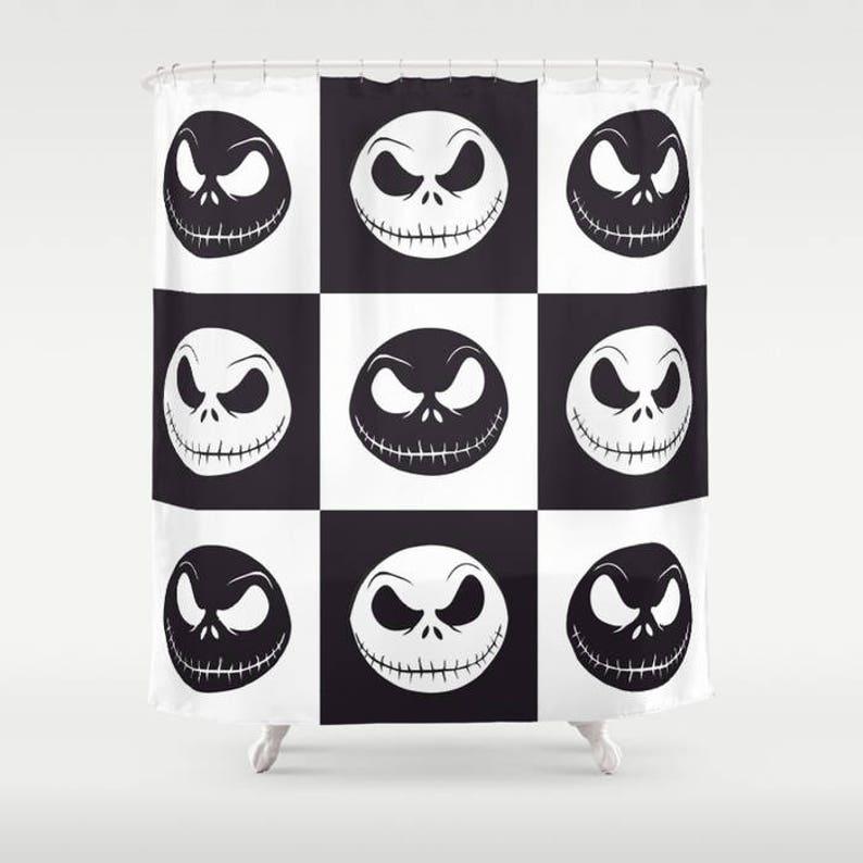 Jack Skellington Shower Curtain Halloween Animation Movie
