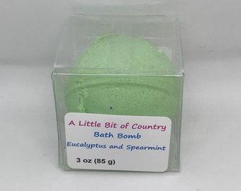 Eucalyptus and Spearmint Skin Softening Bath Bomb / Bath Fizzy
