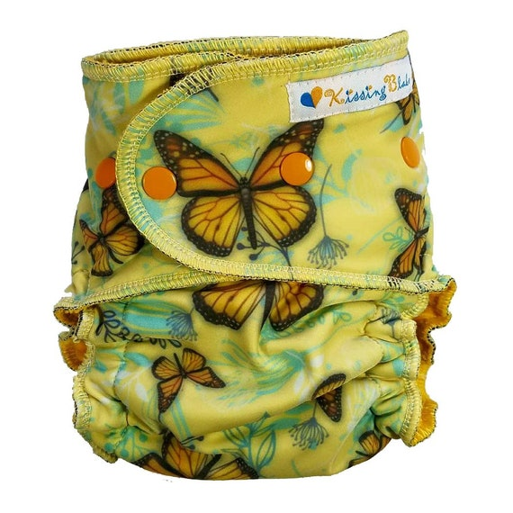 Kissing Blake Fantasy Green Butterfly Baby Cloth Diaper One Size Adjustable