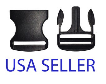 """Quick Release Buckle, Side Release Clip, 2"""" Inch, 1 Pc. Shipped from USA"""