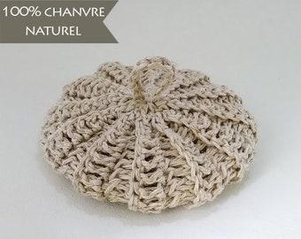 Tawashi en chanvre 100% naturel, diamètre 10 cm, tarif dégressif, éponge zéro déchet pour la vaisselle ou la toilette