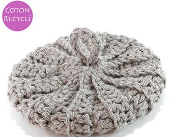 Taupe cotton Tawashi recycled 13 cm