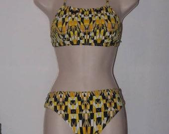 Bikini Brésilien Imprimé Géométrique