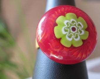 30% discount already calculated on Adjustable ring with cabochon artist passionately Paola!