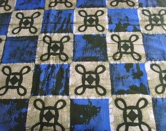 Batik by the yard - blue olive - sunsum - BK07 patterns