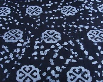 Batik by the yard - black/white - pattern Nyame Dua - bkvl26