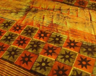 Batik by the yard - orange/yellow/brown - patterns Nsoromma - bkbz21