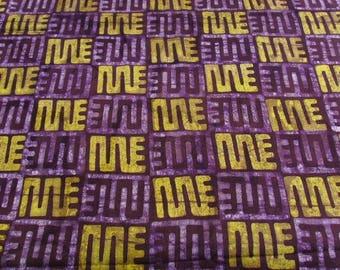 Batik by the yard - purple/light - nkyinkyim patterns - bkbz33