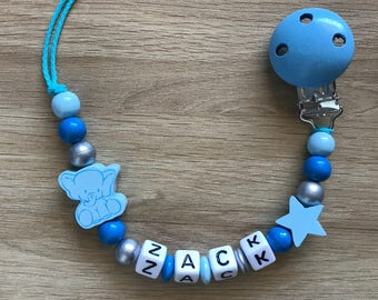 """Personalized pacifier - """"Dumbo p' little elephant"""""""