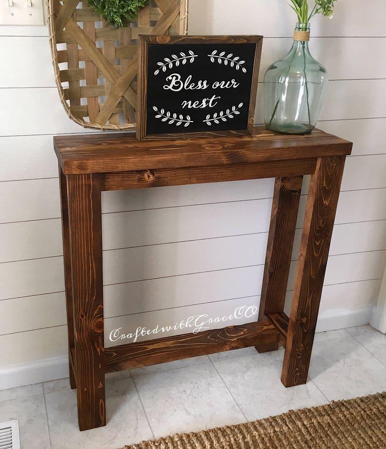 Rustic Entryway Table | Console Table | Entryway Decor | Farmhouse Entryway  Table | Hallway Table | Wood Entryway Table |