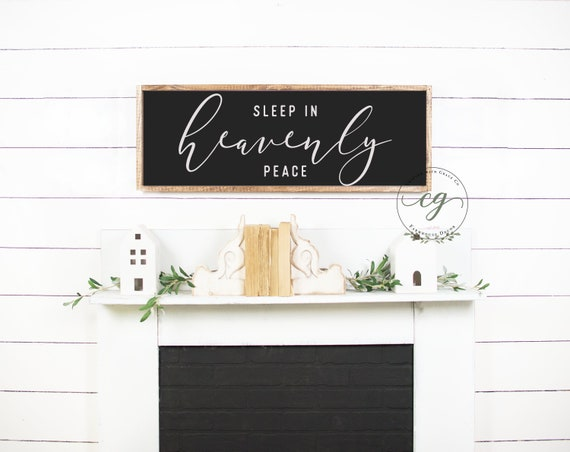 Sleep in Heavenly Peace Sign | Christmas Wood Signs | Farmhouse Christmas  Decor | Master Bedroom Wood Sign | Sleep in Heavenly Wood Sign