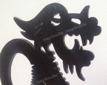 Press book dragon woodcut
