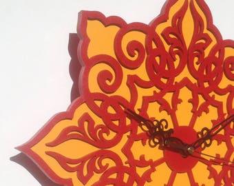 Wall clock oriental pattern