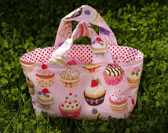 """Quilted basket child """"cupcakes"""""""