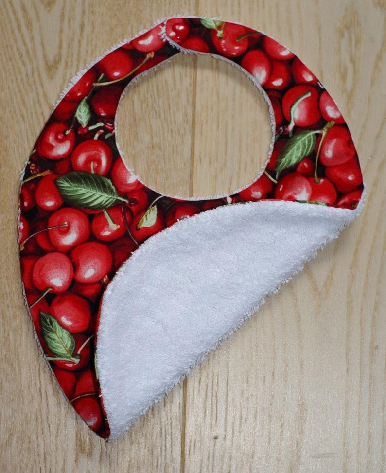 oval cherry bib