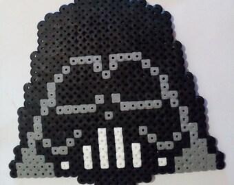 key pixel art in hama beads: Darth Vader in Star Wars