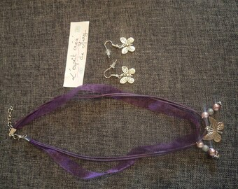 Chloe Butterfly set: necklace and earrings perfect for Valentine