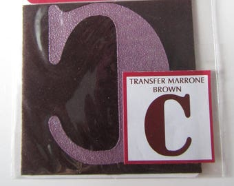 Transfer for fabric - c - brown color - 6 cm x 6 cm