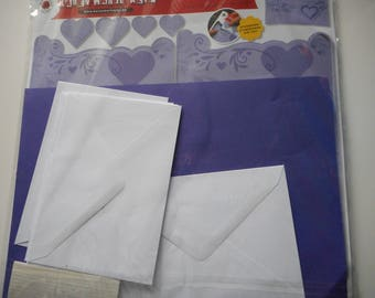 "Set of 6 cards + envelopes to make - model ""Romance"""
