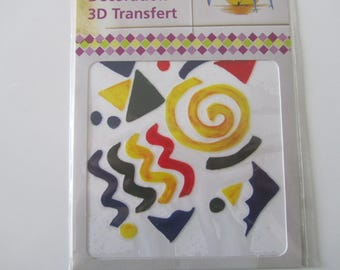 Decorative 3D transfer for kitchen, bathroom - geometric - 100 mm x 100 mm