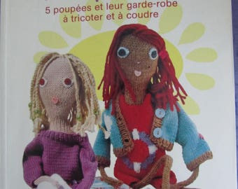 """Book """"Poupettes"""" - 5 dolls and their wardrobe to knit and sew"""""""