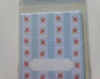 Tags - set of 12 beautiful placing cards cardboard flower