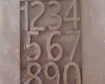 Very nice little wooden frame with the numbers 1 to 0 - customize - 14.5 cm x 18.5 cm