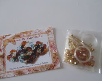 Kit for making a brooch timeless natural/honey color