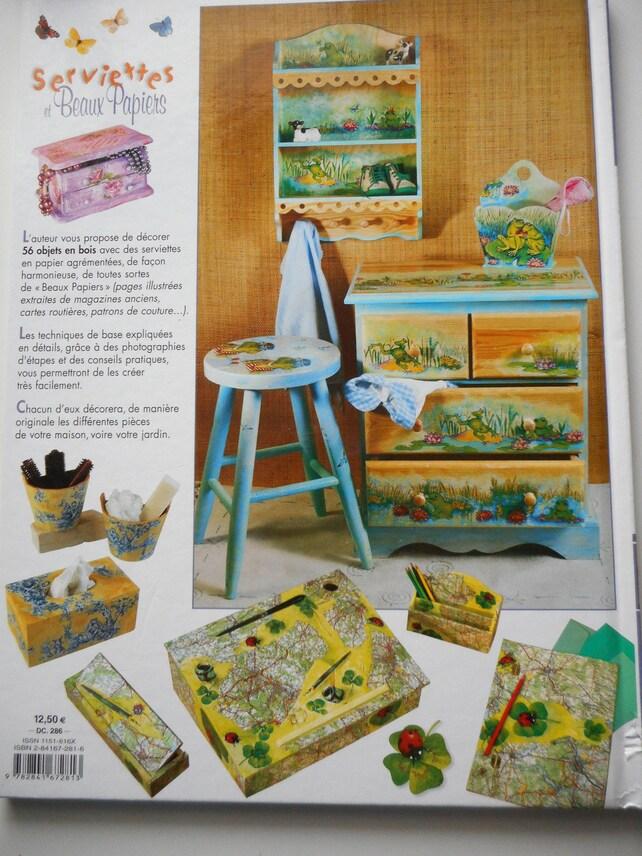 Livre Serviettes Et Beaux Papiers 56 Collages Etsy