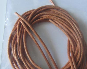 bag with a cord, light brown cotton lace 2 meters - for multiple projects