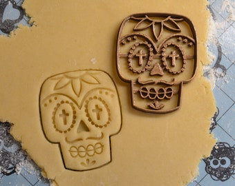 Mexican Skull Cookie cutter - Halloween cookie cutter - Dia de los muertos cookie cutter - Halloween - Halloween treats - Cookies -