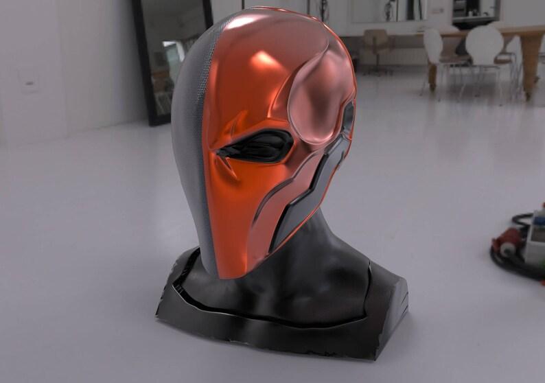 DeathStroke Mask 3D Print Ready  stl file (WEARABLE SIZE!)