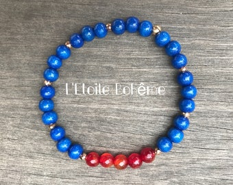 Bracelet red and blue