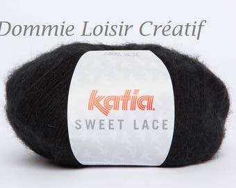 Laine Katia SWEET LACE coloris 2 Noir 7da46506c2f