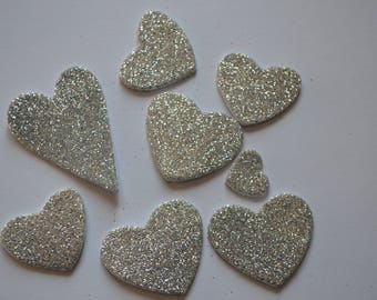 Scrapbooking STICKERS stickers silver sequins