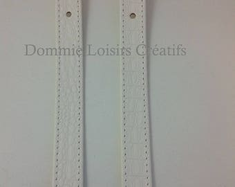 X 2 eco White Leather - 60 cm bag handles