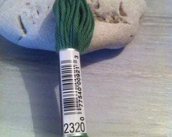 Cotton DMC 89 plied 2320 fern green canvas