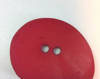 50 X 40 drop decoration button - resin brick red