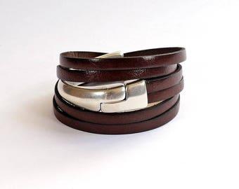 bracelets cuir femme et homme faits main par. Black Bedroom Furniture Sets. Home Design Ideas