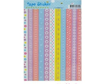 Tapes decorative stickers stickers scrapbooking cardmaking model 1 (ref.410) *.