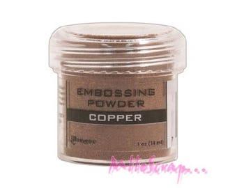 Embossing powder copper storing scrapbooking card making *.