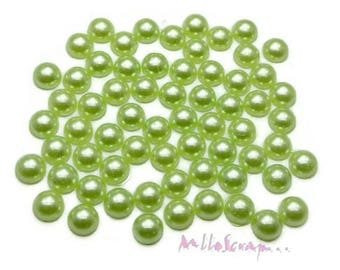 Set of 20 green jelly clear 10mm embellishment scrapbooking glue *.