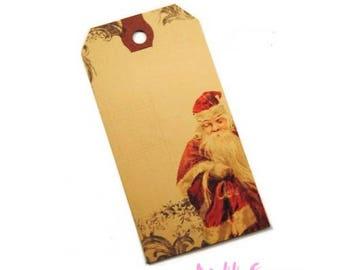 Set of 2 Santa Claus tags labels scrapbooking cardmaking 3. *