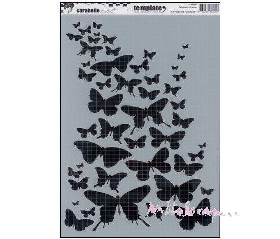 Pochoir papillon, pochoir Crabelle Studio, pochoir stencil, mask, pochoir Studio, XL, pochoir scrapbooking eb0a57