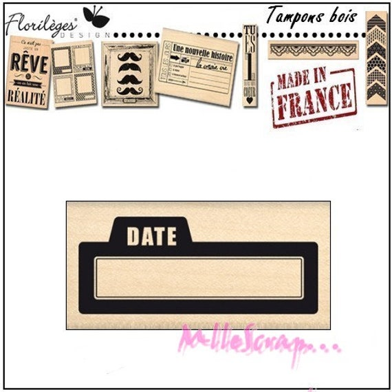 tamopn scrapbooking made in France holiday stamp Miscellany Design Wood stamp