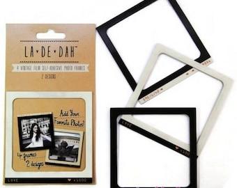 """Set of 4 photo frames wall decal """"La De Dah"""" decor scrapbooking (ref.110). *."""