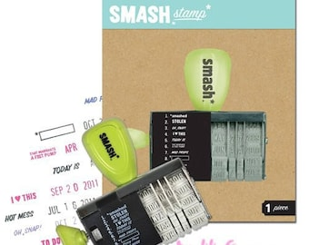 Stamp date and expressions K & COMPANY scrapbooking (ref.210) *.
